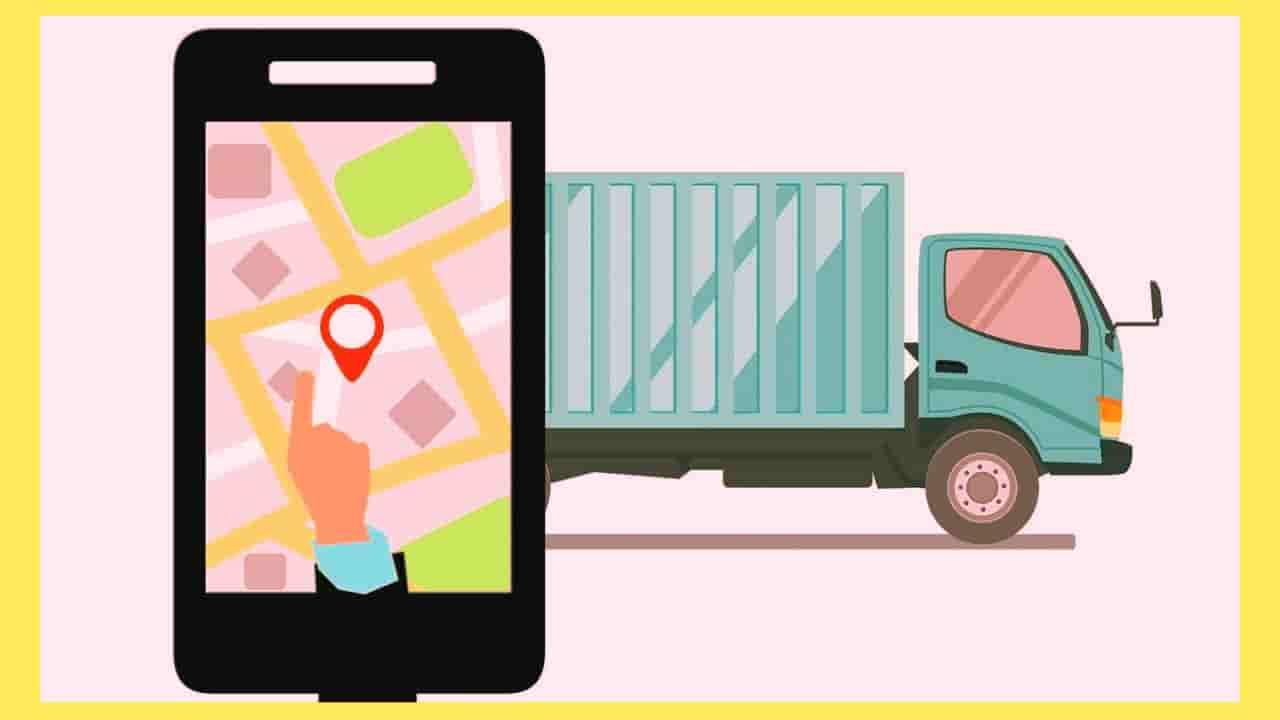 配達荷物をアプリで追跡しているイラスト