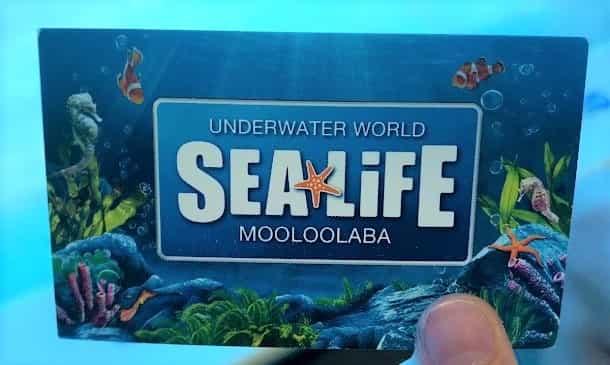 サンシャインコーストにある SEA LIFE  のビジネスカード