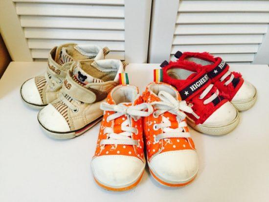 子供 靴 サイズ色々