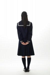 中学生 セーラー服 後ろ姿