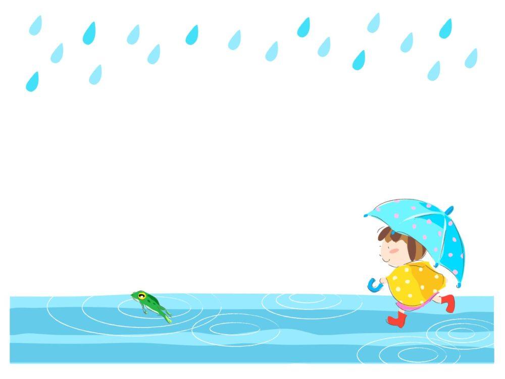 雨の日 水たまり