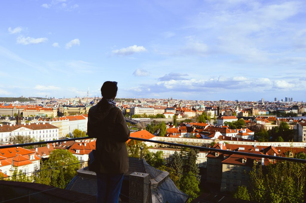 A view of Prague from the top