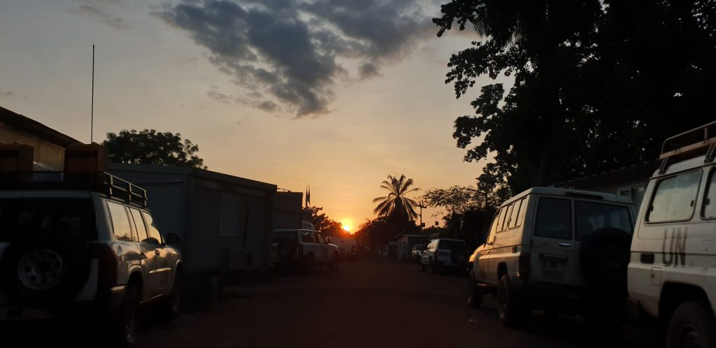 Sunset in Yambio, South Sudan