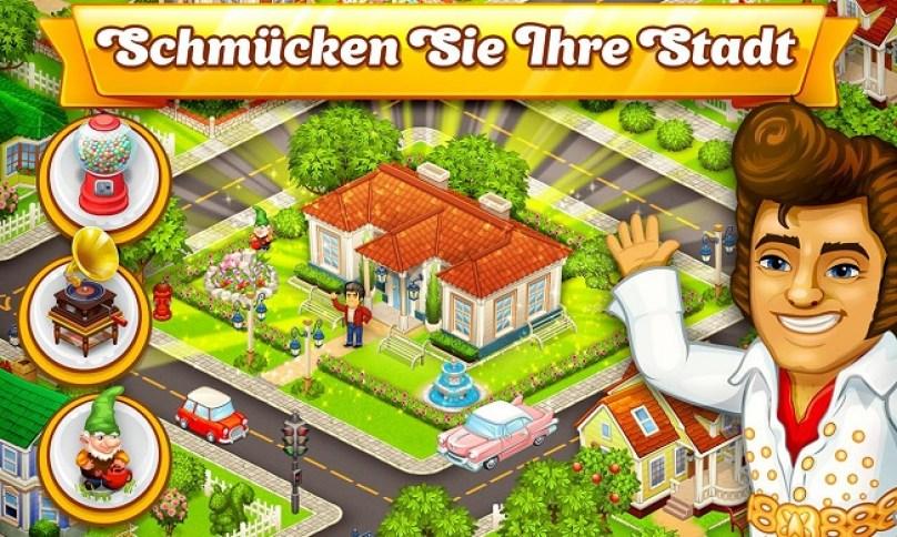 Cartoon Stadt Dorf und Bauernhof
