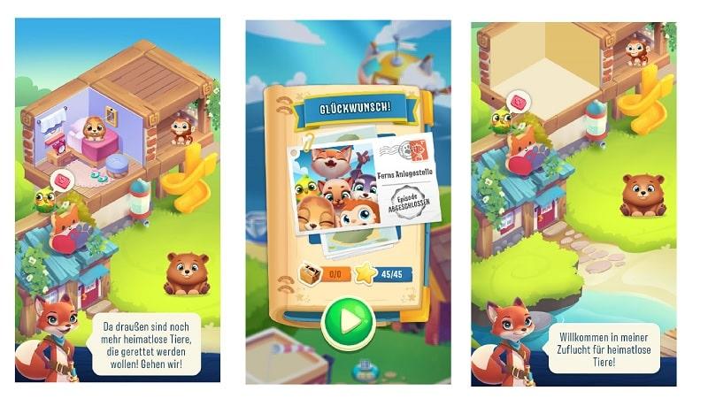 Kostenlos spielen: Pet Rescue Puzzle Saga (+Tipps