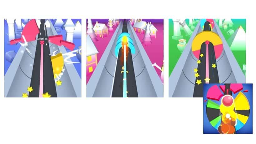 Smash Road Color Ball Run 3D
