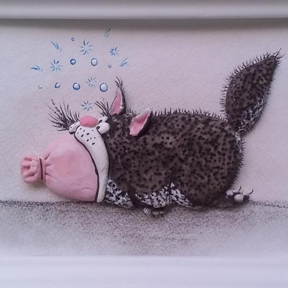 Триптих «Кот на колбасе 3»