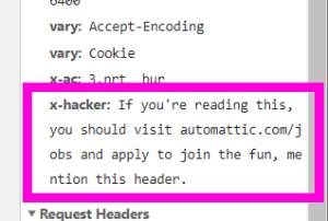 WordPress.comヘッダーでAutomatticが採用活動