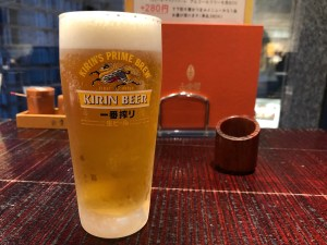 古奈屋で生ビール