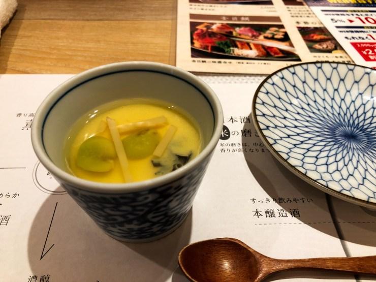 東京コトブキ お通し(茶碗蒸し)