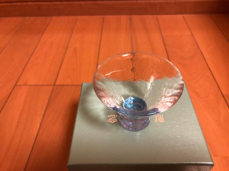 献血10回記念品「多田美波」作、おちょこグラス