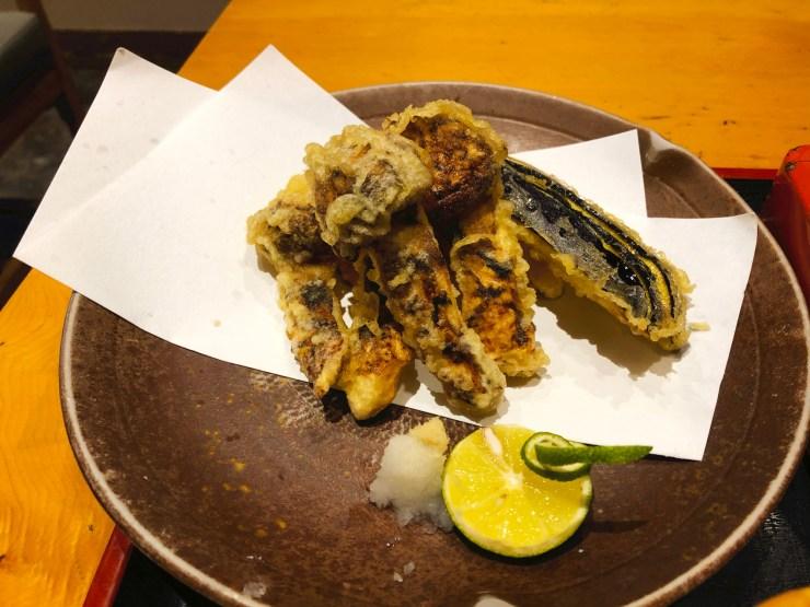 松茸と秋野菜の天ぷら