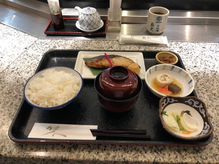 銀鱈京粕漬定食