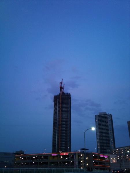 工事中のビル