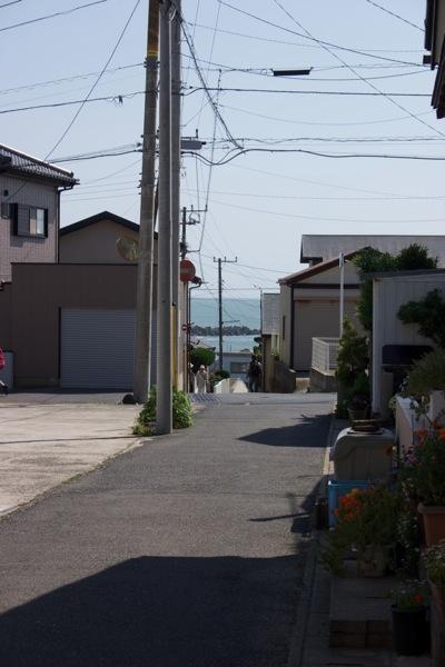 外川 海の見える坂道