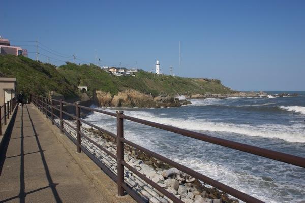 犬吠埼の灯台につながる通路