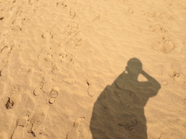 鳥取砂丘人の影