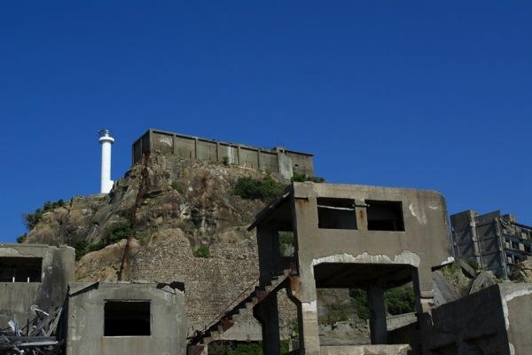第二竪穴桟橋と肥前端島灯台