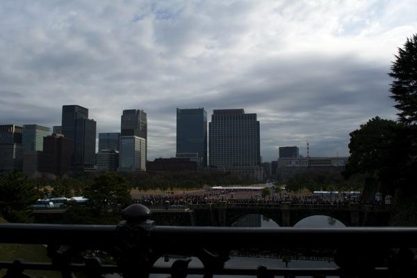 二重橋からの眺め