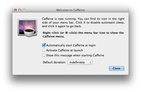 CaffeineSetting