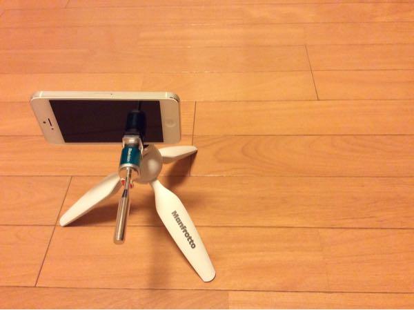 PIXIミニ三脚とSuper Mount FでiPhoneを装着