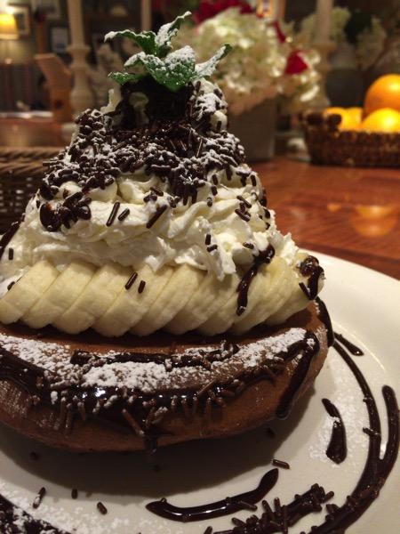 チョコレート&バナナパンケーキ