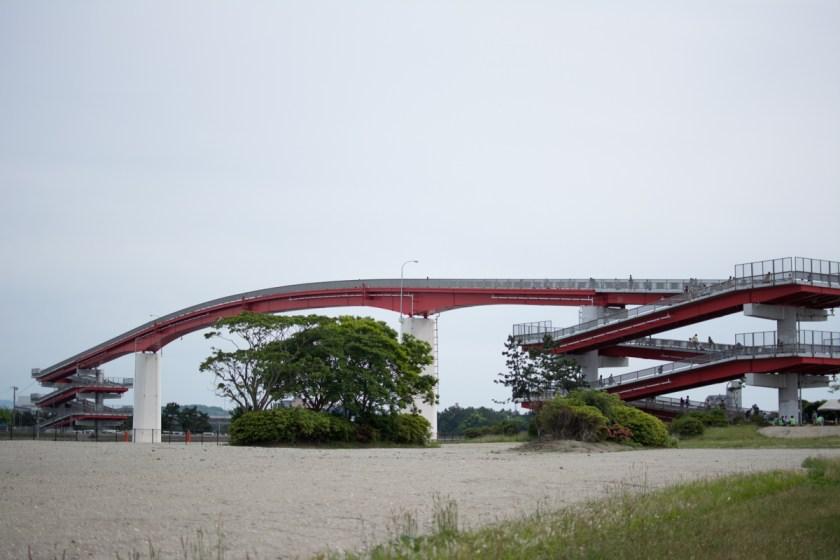 中の島から見た中の島大橋