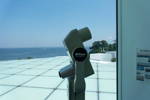 横須賀美術館 屋上広場の双眼鏡