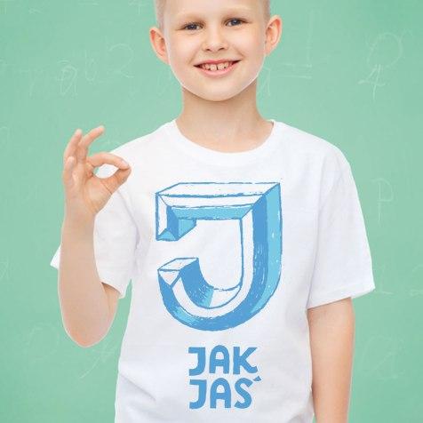 personalizowana koszulka dla kilkulatka