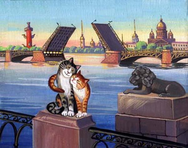 картины кот
