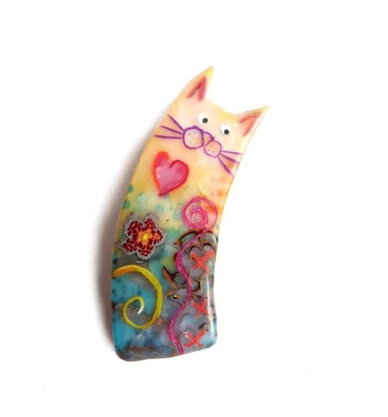 кот из полимерной глины 1