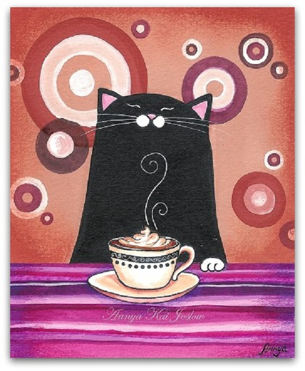 ArtSymphony_Cats and food by Annya Kai