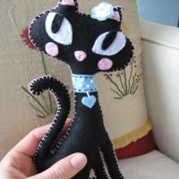 Кошка Жасмин из фетра