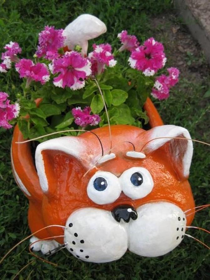 кот садовый горшок (7)