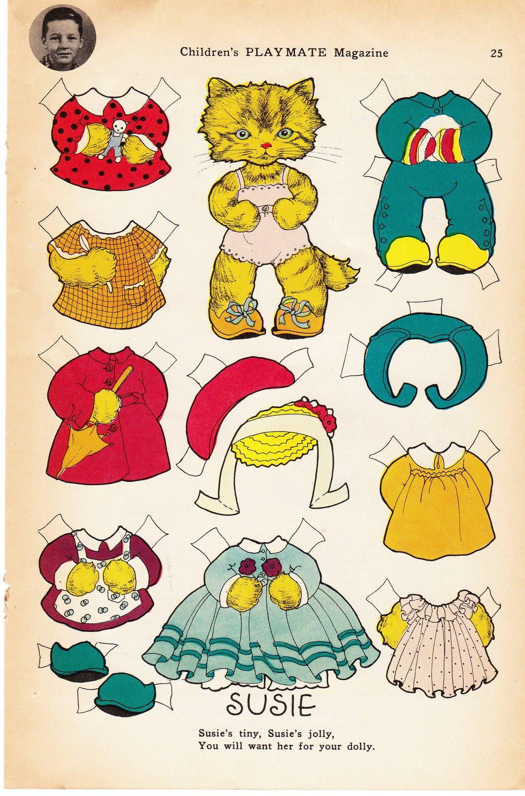 бумажные коты с одеждой (16)