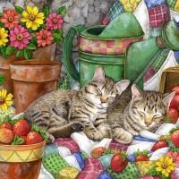 Картинки для декупажа Коты