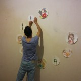 Niki installed creation The artist