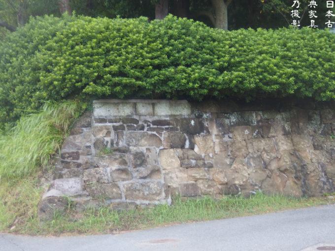 十二所神社 石垣