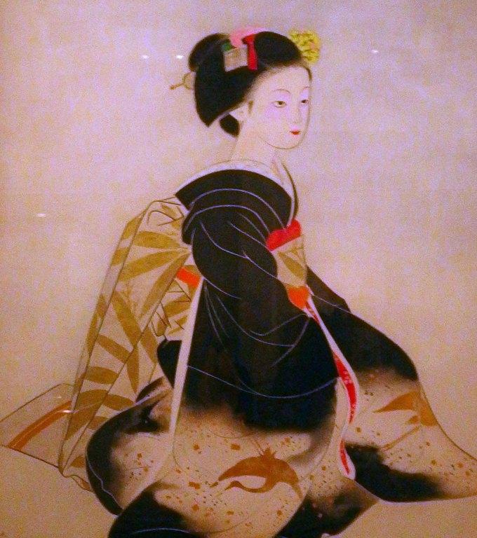 「舞妓」奥村土牛 山種美術館所蔵 ブロガー内覧会で撮影