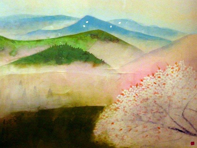 「吉野」部分 奥村土牛 山種美術館所蔵 ブロガー内覧会で撮影