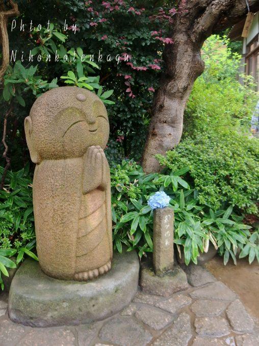 長谷寺 和み地蔵像と紫陽花