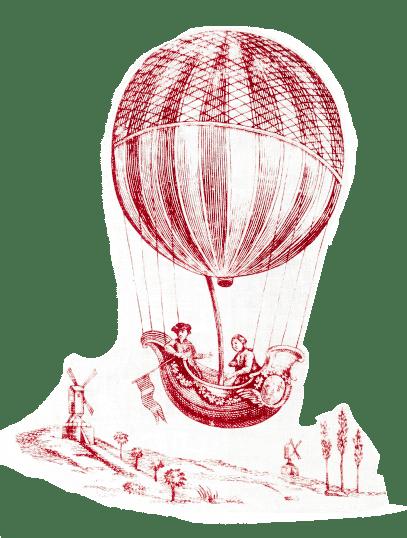 トワレ・ド・ジュイ 気球柄