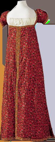 エンパイヤスタイルのドレス