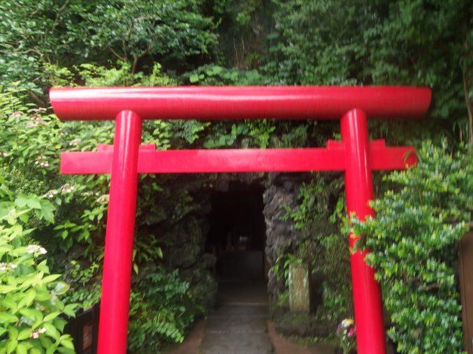 長谷寺 弁天窟入り口