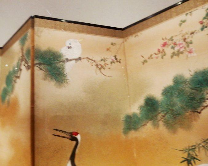 岸連山「花鳥図」山種美術館所蔵 ブロガー内覧会で、許可を得て撮影