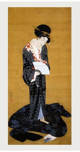 喜多川歌麿「更衣美人図」出光美術館所蔵