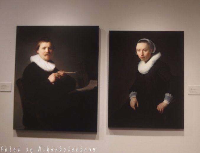 レンブラント リ・クリエイト展 女の像 ペンを削る男の肖像
