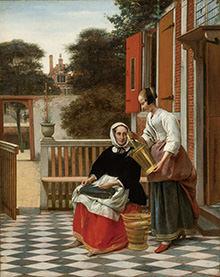 ピーテル・デ・ホーホ「女主人とバケツを持つ女中」