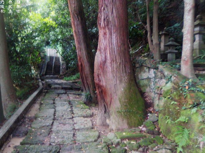 光則寺 石牢への石段