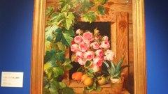 フェルディナント・キュス「バラとアンズのある静物」